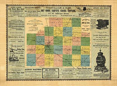 Royalty-Free and Rights-Managed Images - Antique map of the McLean County - Business advertisements - Historical map by Studio Grafiikka