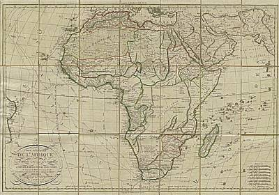 Royalty-Free and Rights-Managed Images - Antique Maps - Old Cartographic maps - Antique Map of Africa, 1829 by Studio Grafiikka