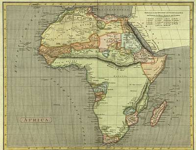 Royalty-Free and Rights-Managed Images - Antique Maps - Old Cartographic maps - Antique Map of Africa by Studio Grafiikka