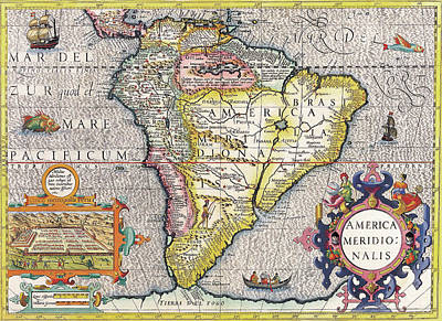 Royalty-Free and Rights-Managed Images - Antique Maps - Old Cartographic maps - Antique Map of South America, 1630 by Studio Grafiikka