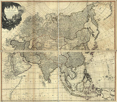 Royalty-Free and Rights-Managed Images - Antique Maps - Old Cartographic maps - Antique Map of Asia and Its Islands, 1799 by Studio Grafiikka