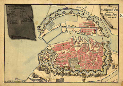 Royalty-Free and Rights-Managed Images - Antique Maps - Old Cartographic maps - Antique Map of Copenhagen, 1800 by Studio Grafiikka