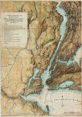 Long Island Drawing - Antique Maps - Old Cartographic Maps - Antique Map Of Long Island And Staten Island, 1864 by Studio Grafiikka