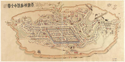Royalty-Free and Rights-Managed Images - Antique Maps - Old Cartographic maps - Antique Map of Tianjin, China, 1899 by Studio Grafiikka