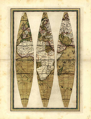 Old World Vintage Cartographic Maps Wall Art - Drawing - Antique Maps - Old Cartographic Maps - Antique Sections Of The Globe - Africa by Studio Grafiikka