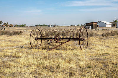 Photograph - Antique Mccormick Hay Rake  by Gene Parks