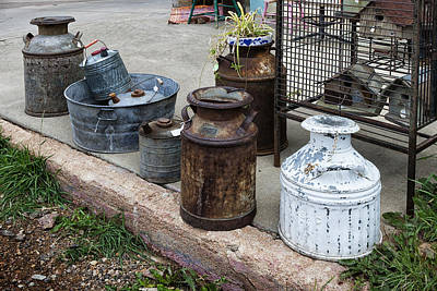 Photograph - Antique Metal Cans Victor Colorado Img_8678 by Greg Kluempers