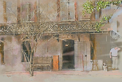 Digital Art - Antique Metalwork Balcony by Paulette B Wright