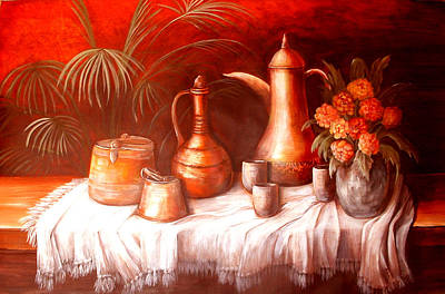 Antique Moroccan Pots Still Life Art Print by Patricia Rachidi