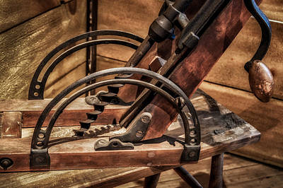 Photograph - Antique Mortise Machine by James Barber