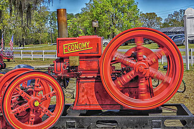 Photograph - Antique Motor by Dennis Dugan
