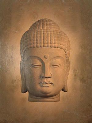 antique oil effect Buddha Korean , Art Print by Terrell Kaucher