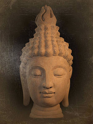 antique oil effect Buddha Sukhothai Art Print by Terrell Kaucher