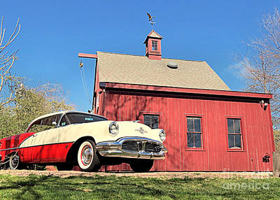 Photograph - Antique Oldsmobile  by Janice Drew