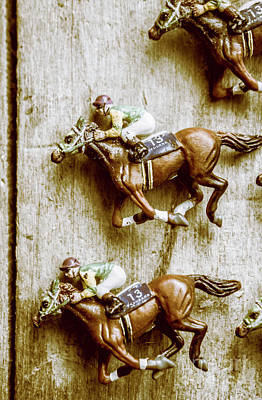 Racehorse Photograph - Antique Photo Finish by Jorgo Photography - Wall Art Gallery