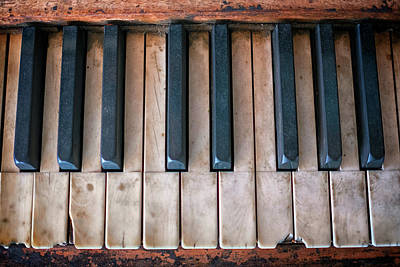 Photograph - Antique Piano Keys by Rick Berk