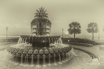 Photograph - Antique Pineapple Fountain by Dale Powell