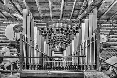 Photograph - Antique Pipe Organ by Richard J Cassato