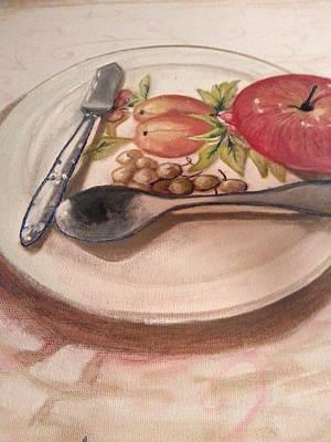 Jenna Thomas Wall Art - Painting - Antique Plate Design by Jenna Thomas