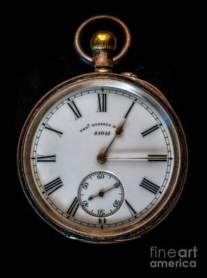 Railway Tracks Photograph - Antique Pocket Watch by Adrian Evans
