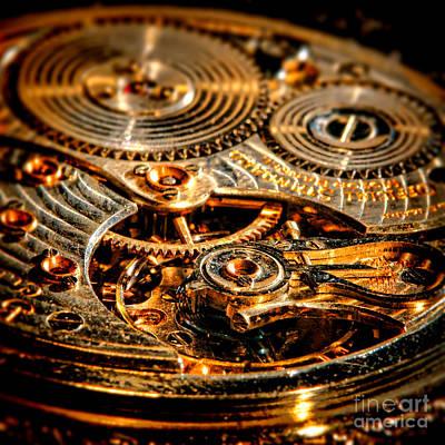 Photograph - Antique Pocket Watch Caliber   by Olivier Le Queinec