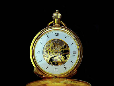 Photograph - Antique Pocket Watch by Felix Mittermeier