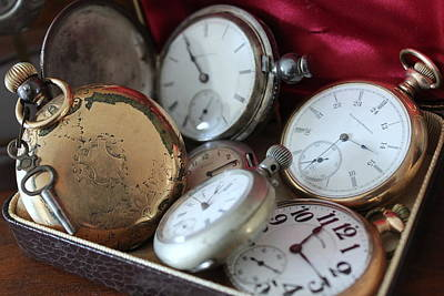 Photograph - Antique Pocket Watches by Patricia Spicuzza