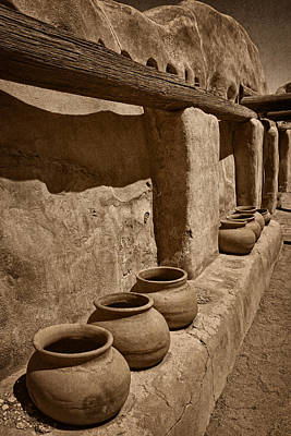 Photograph - Antique Pots At Mission Tnt by Theo O'Connor