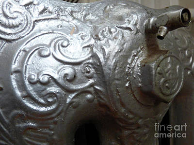 Photograph - Antique Radiator Close-up by Leara Nicole Morris-Clark