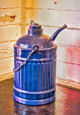 Photograph - Antique Railroad Kerosene Can by Gary Slawsky