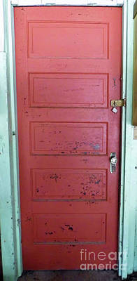 Photograph - Antique Red Door by D Hackett