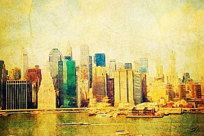 Pier 17 Digital Art - Antique Rhapsody Skyline by Eliza McNally
