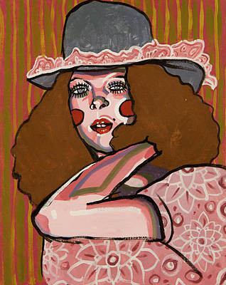 Curly Hair Painting - Antique by Rob Tokarz