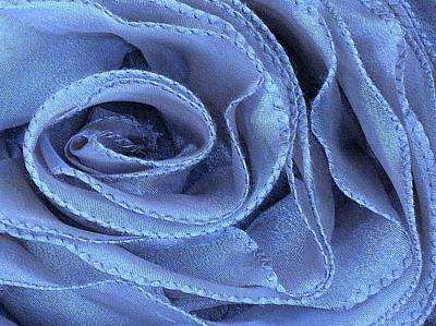 Photograph - Antique Rose In Blue by Carolyn Jacob