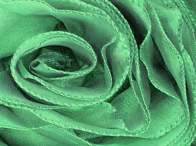 Photograph - Antique Rose In Green by Carolyn Jacob