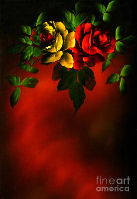 Painting - Antique Roses by Betsy Foster Breen