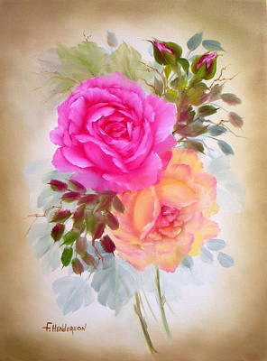Painting - Antique Roses by Francine Henderson