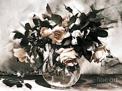 Antique Roses Art Print