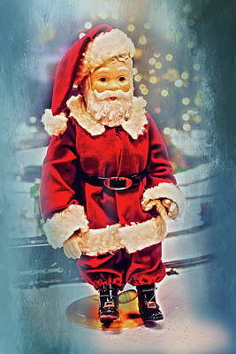 Photograph - Antique Santa Doll by Toni Hopper