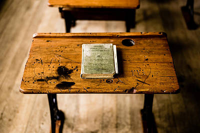 Photograph - Antique School Desk by M G Whittingham