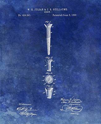Drawing - Antique Screw Patent by Dan Sproul