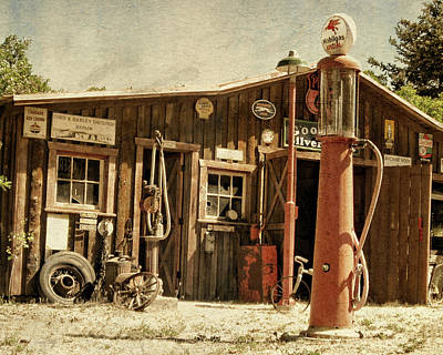 Antique Service Station Art Print