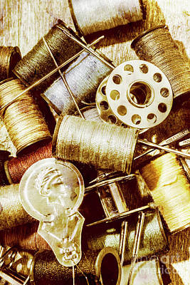 Thread Photograph - Antique Sewing Artwork by Jorgo Photography - Wall Art Gallery