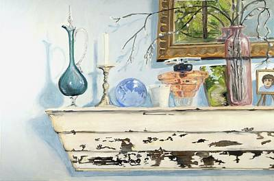 Wall Art - Painting - Antique Shelf by Katherine Farrell