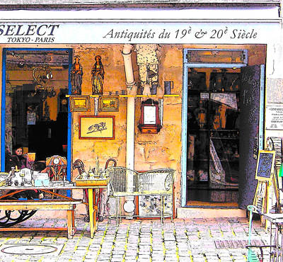 Photograph - Antique Shop In Paris by Jan Matson
