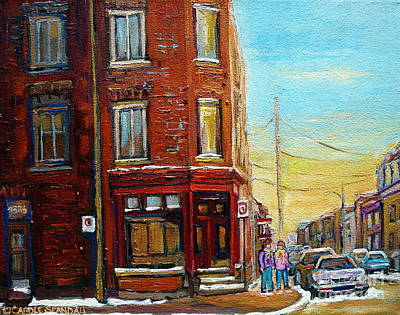 Old Store Front Painting - Antique Shop In Saint Henri by Carole Spandau