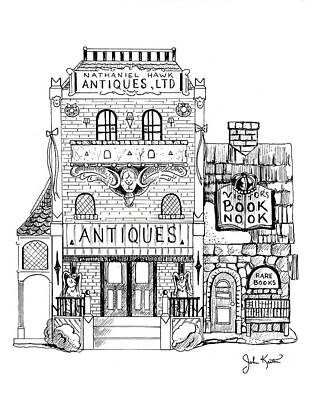 Drawing - Antique Shop by John Keaton