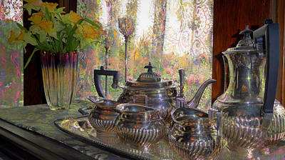 Photograph - Antique Silver Tea And Coffee Service by Lori Seaman