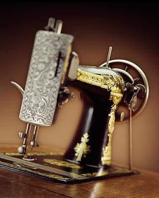 Antique Singer Sewing Machine 2 Art Print by Kelley King