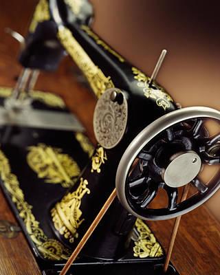 Antique Singer Sewing Machine 3 Art Print